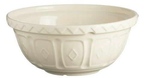 Mason Cash Bowl 24cm Large Cream Beige Ceramic 2L Deep Mixing Whisking Bowl S24