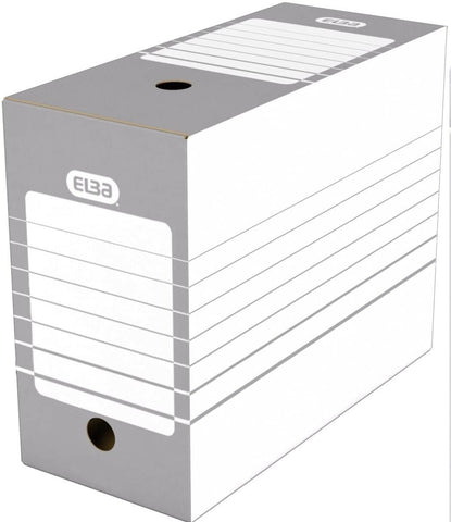 Elba Pack of 20 A4 Archive Storage Boxes 20cm