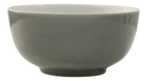 Set Of 6 Grey Soup Bowls Glazed Porcelain Breakfast Cereal Dessert Salad Bowls