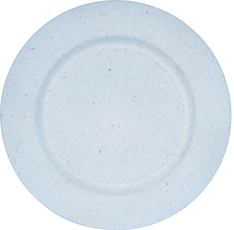 Set of 4 White Round Charger Plates 33cm Stone Effect Under Plates
