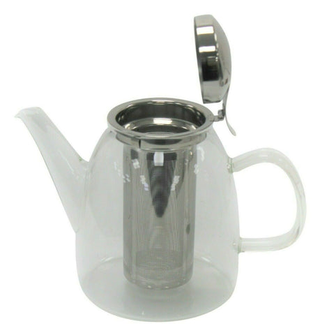 800ml Glass Tea Pot With Stainless Steel Infuser Loose Leaf Herbal 3 Cup Teapot