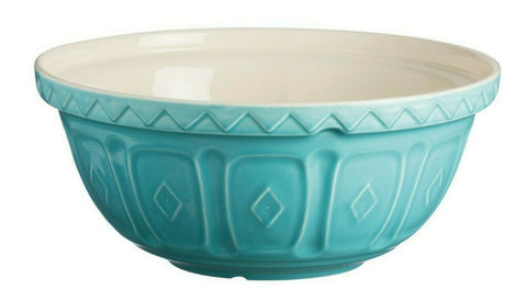 Mason Cash Bowl 26cm Large Turquoise Ceramic 2.7L Deep Mixing Whisking Bowl S18