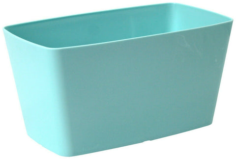 Set Of 2 Blue 30cm Rectangular Trough Planters Plant Pots Indoor Outdoor