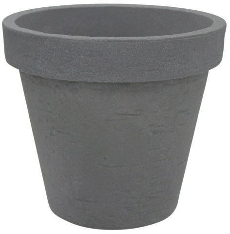 Charcoal Grey Stone Effect Round Large Planter Plant Pot 40cm Plant Pot