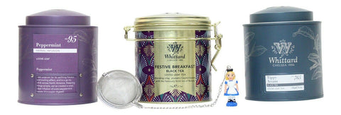 Whittard Tea Gift Set - Loose Tea Selection With Strainer Winter Christmas Gift
