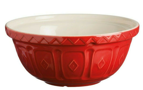 Mason Cash Bowl 26cm Large Bright Red Ceramic 2.7L Deep Mixing Whisking Bowl S18