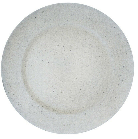 Set of 4 Cream Round Charger Plates 33cm Stone Colour Effect Under Plates