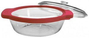 Anchor Hocking 2Litre Large Round Glass Oven Casserole Dish Container & Lid