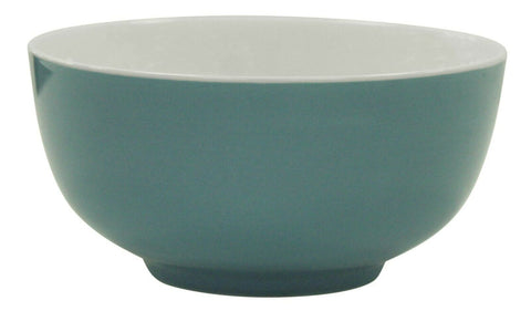 Set Of 6 Blue Soup Bowls Glazed Porcelain Breakfast Cereal Dessert Salad Bowls