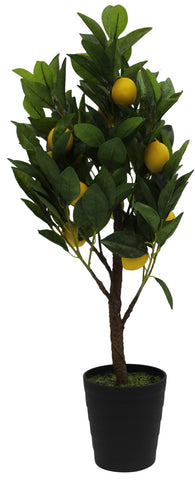Artificial Citrus Fruit Tree Potted Mini Lemon Tree Artificial Plant in Pot 70cm