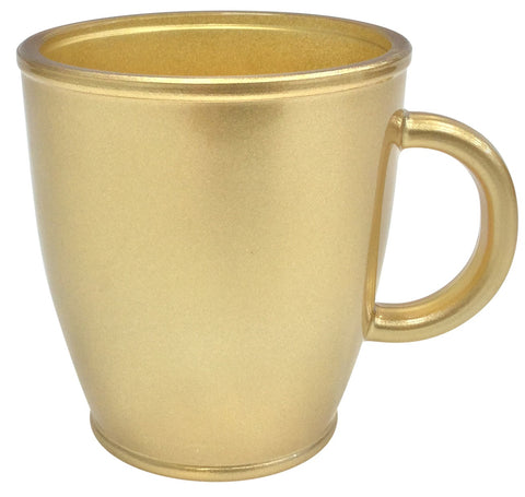 Cerve Set of 6 Gold Glass Mugs 400ml Large Coffee Tea Mugs Made in Italy