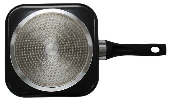 Cok Non Stick Square Frying Pan 28cm Grilling Pan Black & White Speckled