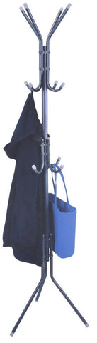 Metal Coat Stand & Hat Stand & Bag Hooks 12 Hooks Black Silver or White