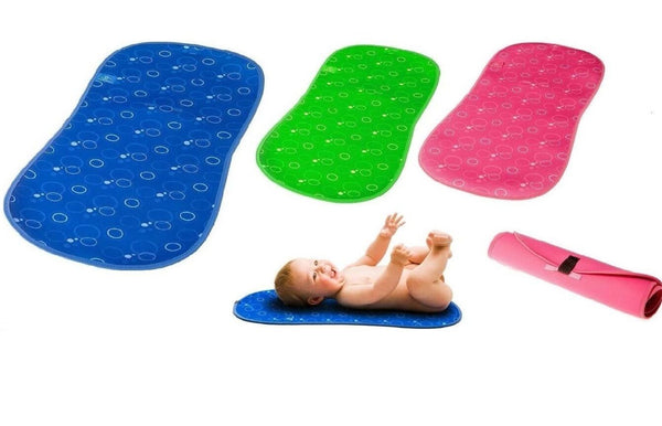 Bibetta Roll n Go Baby Changing Mat Travel Changing Mats In Pink Blue or Green