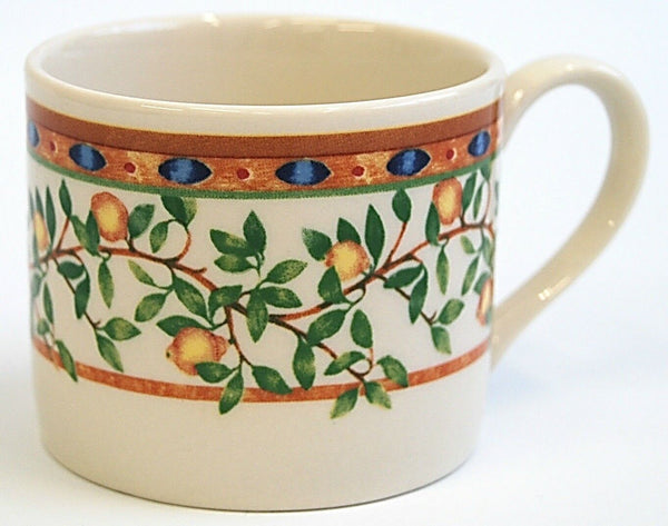 Set of 6 JOHNSON BROTHERS by Wedgwood Mugs Priory Lemon Tree Design