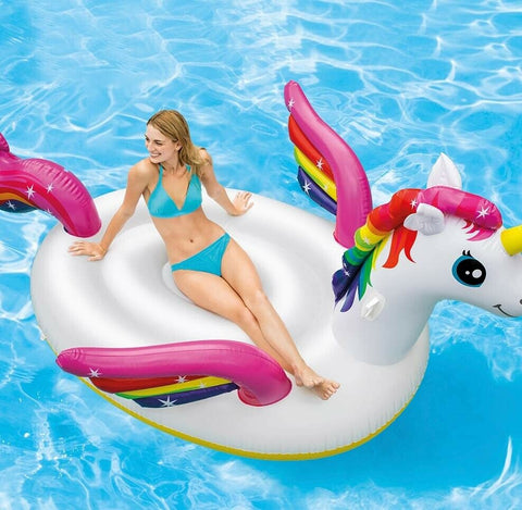 Intex Gigantic Swimming Pool Inflatable Float For 2 People Almost 10ft Unicorn