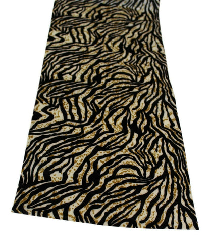 Zebra Print Fabric Table Runner 2 Meters Long Elegant (over 6ft Length)