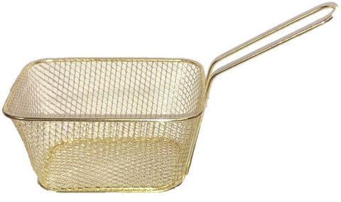 Medium Gold Metal Baskets Ideal for Serving Chips Small Pieces Of Fried Fish