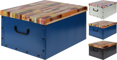 Cardboard Large Storage Boxes With Lid Storage Box Toy Box Handle Themed Lids