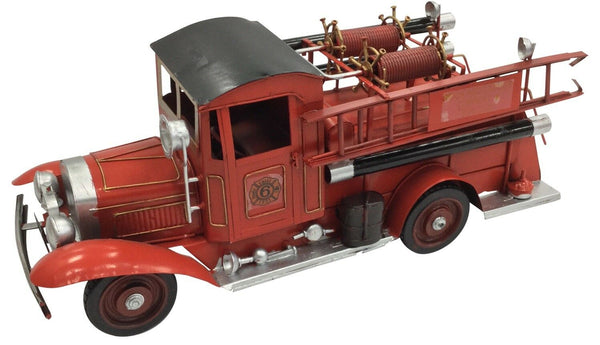 Vintage Classic Extra Large Red Fire Engine Tin Metal 40cm Length Collectible