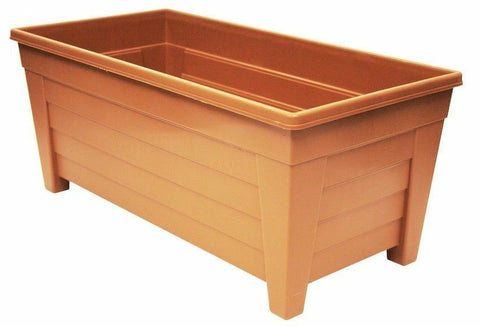 Large 55cm Long Garden Planter Plant Pot Plastic Trough Raised Planter