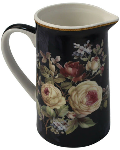 Leonardo Collection Fine China 500ml Jug Rose Blossom Floral Design Milk  Jug