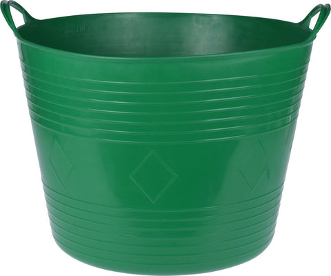 43 Litre Round Large Flexi Bucket Log Basket Strong With Handles Green
