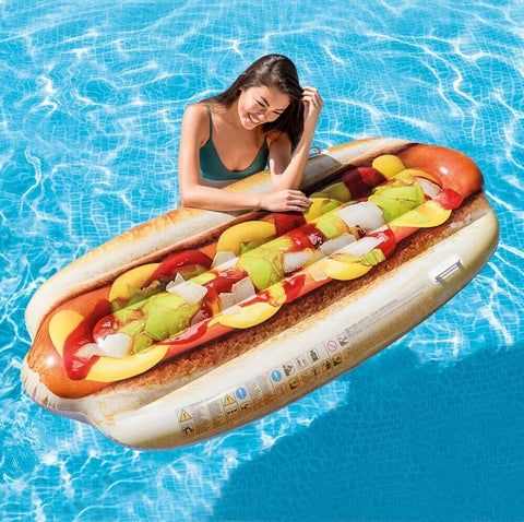 Intex Giant Swimming Pool Large Inflatable Float 6ft Long Hot-dog Float