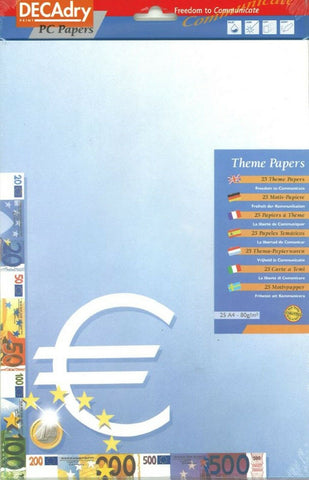 Decadry Euro Logo Themed Stationery Scrapbooking Crafts Writing Paper A4