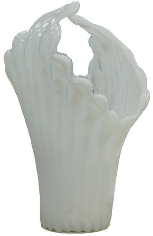 Handmade Murano Glass Vase Venetian Craftsmen Milk Glass White Flower Vase LARGE