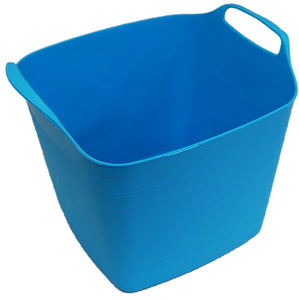 25 Litre Square Flexi Bucket Log Basket Strong Sturdy & Flexible With Handles