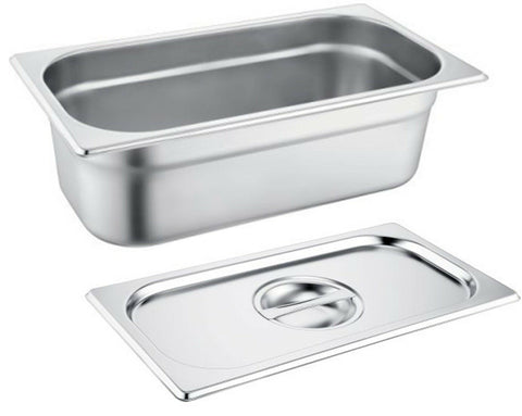 Zodiac Gastronorm 1/3 200MM / 8 Litre Deep Stainless Steel Container & Lids