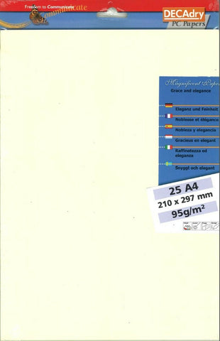 Decadry SCL-7663 Rib Chamois Themed A4 Letterhead Paper Writing Paper