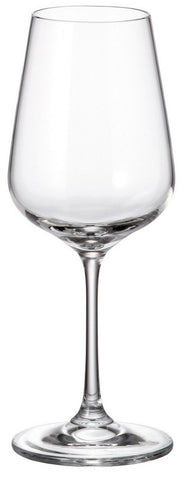 Bohemia Crystal Set of 6 White Wine Glasses Strix Range 350ml