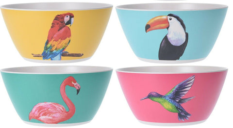 Large 3.4 Litre Eco Friendly Bamboo Fibre Mixing Bowls In Bright Nature Designs