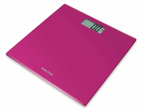 Salter 9069 PK3R Ultra Slim Glass Electronic Scale Pink Digital Bathroom Scale