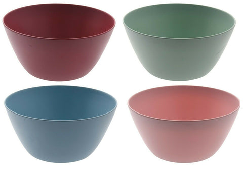 Large 25cm Eco Friendly Bamboo Fibre Mixing Bowls In Pastel Colours Salad Bowls