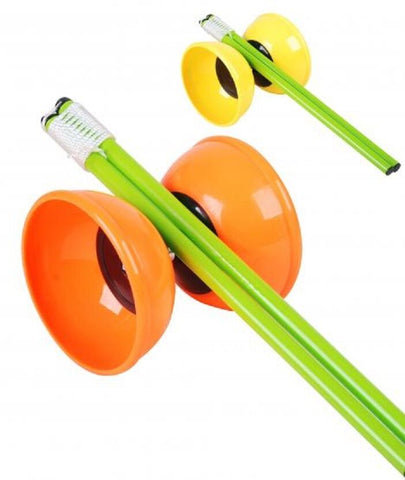 Diabolo Activity Set + Plastic Diabolo Handsticks, Green Blue Yellow or Orange