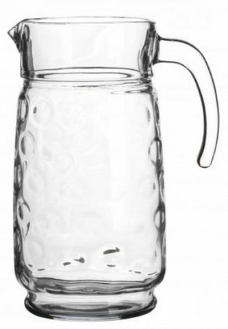Pasabahce Rings 1.7 Litre Glass Water Jug Pitcher Carafe