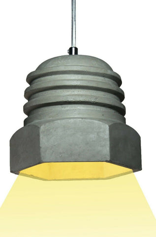Modern Deco Cement Made Modern Hanging Ceiling Light in Shape Of A Screw