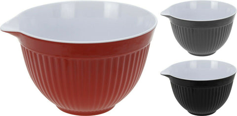Bright Coloured Large 2 Litre Batter Bowl Pouring Bowl Strong Melamine Plastic