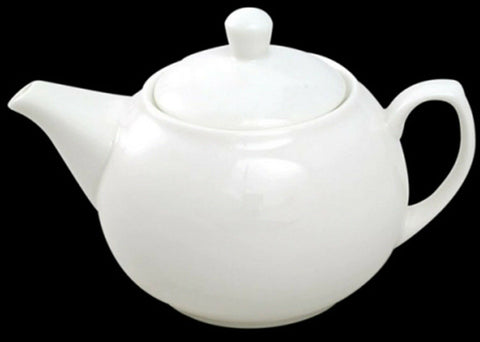 Fully Vitrified White Porcelain Teapot For The Professional Trade White Tea Pots