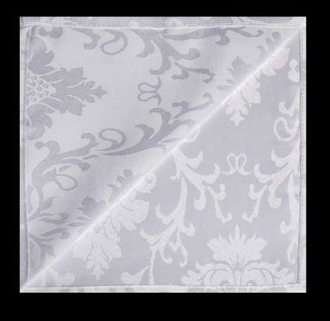 Damask Floral Napkins 45 cm x 45 cm Set of 4 Napkins WHITE