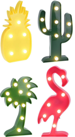 Led Party Lighting Battery Operated Led Lights in Fun Shapes, Palm Pineapple