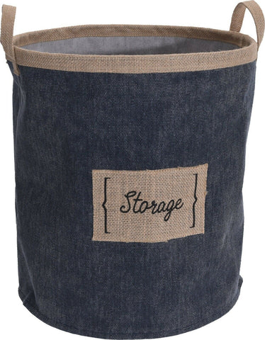 Denim Canvas Pop Up Storage Bag Pop Up Laundry Bag