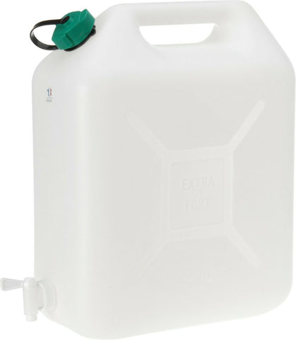 10 Litre Water Carrier Jerry Can Container Food Grade Plastic With Tap & Carry Handle