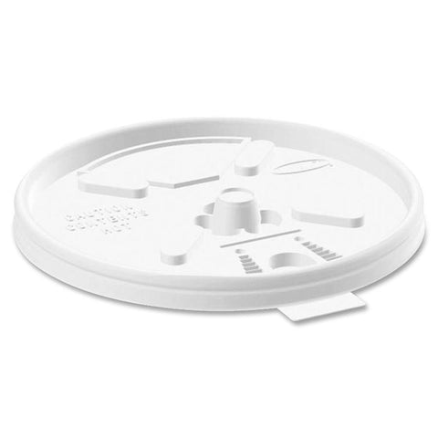 White Plastic Round Lift & Lock Lid - Qty 2700
