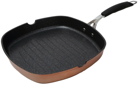 Bergner Infinity Chef Copper Non Stick Square Frying Pan FULL INDUCTION 28cm Pan