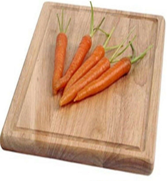 Zodiac Rectangle Chopping Board 35cm Rubberwood Large Cutting Board