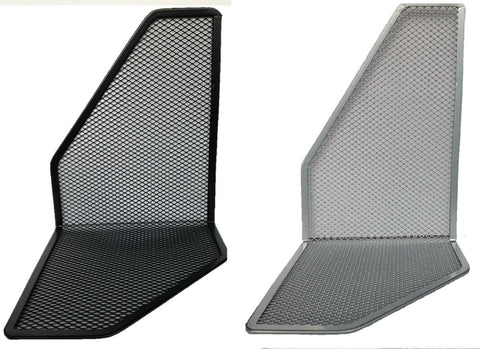 Metal Mesh Silver Black Bookends Book Ends